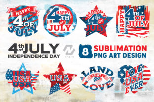 Print on Demand: 4th of July Art Design Sublimation Graphic Illustrations By nesdigiart