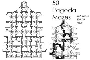 Print on Demand: 50 Chinese Pagoda Mazes Type 2 Set 2 Graphic KDP Interiors By Kathryn Maloney 1