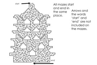 Print on Demand: 50 Chinese Pagoda Mazes Type 2 Set 2 Graphic KDP Interiors By Kathryn Maloney 4