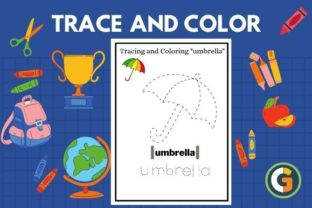 Alphabet Trace and Color Worksheets Graphic PreK By CG Education
