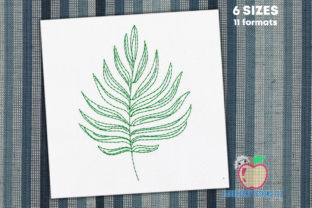 Beautiful Palm Leaf Forest & Trees Embroidery Design By embroiderydesigns101