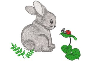 Print on Demand: Bunny Animals Embroidery Design By ArtEMByNatali