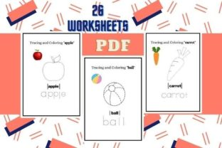Color and Trace Worksheets a-z Graphic K By CG Education