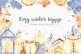 Cozy Winter Hygge Watercolor Clipart Graphic Objects By Marina Ermakova