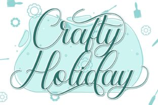 Print on Demand: Crafty Holiday Script & Handwritten Font By fiqiart 1