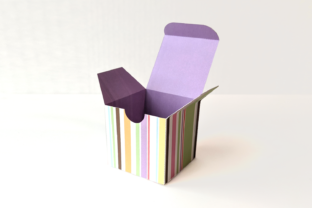 Cube Gift Box SVG Graphic 3D SVG By RisaRocksIt
