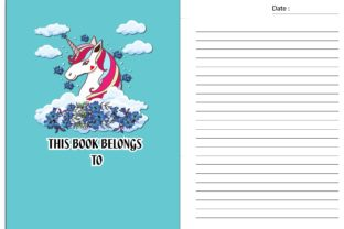Cute Unicorn No Content Book for Kids Graphic KDP Interiors By Ador Hasan