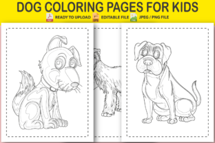 DOG COLORING PAGES for KIDS (10 PAGES) Graphic Coloring Pages & Books Kids By Pro Designer