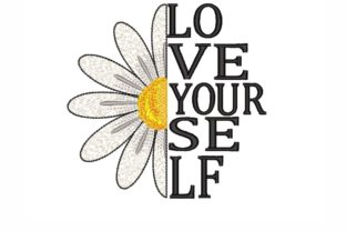 Daisy Inspirational Embroidery Design By sonyaembr