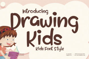 Print on Demand: Drawing Kids Display Font By perspectype