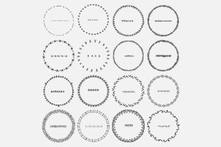 Hand Drawn Round Frame Clipart. Graphic Objects By OneyWhyStudio
