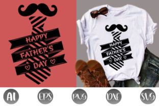 Print on Demand: Happy Father's Day T-shirt Design Graphic Print Templates By creative_design915