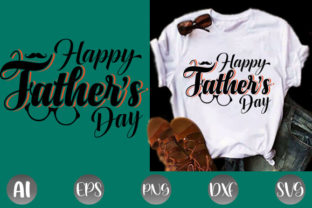 Print on Demand: Happy Father's Day T-shirt Design SVG Graphic Print Templates By creative_design915