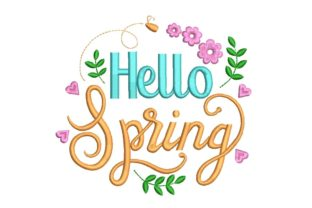 Print on Demand: Hello Spring Spring Embroidery Design By ArtEMByNatali