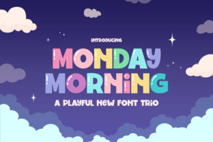 Print on Demand: Monday Morning Display Font By Salt and Pepper Fonts