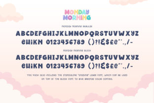 Print on Demand: Monday Morning Display Font By Salt and Pepper Fonts 6