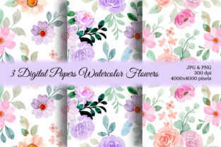 Print on Demand: Seamless Pattern Floral Watercolor 151 Graphic Patterns By asrulaqroni 1