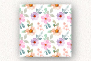 Print on Demand: Seamless Pattern Floral Watercolor 151 Graphic Patterns By asrulaqroni 3