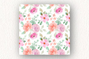 Print on Demand: Seamless Pattern Floral Watercolor 151 Graphic Patterns By asrulaqroni 4