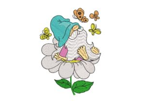 Print on Demand: Spring Gnome Spring Embroidery Design By ArtEMByNatali 1