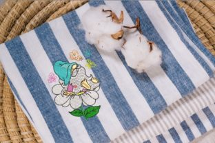 Print on Demand: Spring Gnome Spring Embroidery Design By ArtEMByNatali 2