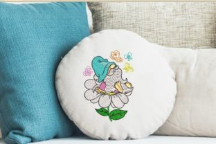Print on Demand: Spring Gnome Spring Embroidery Design By ArtEMByNatali 3