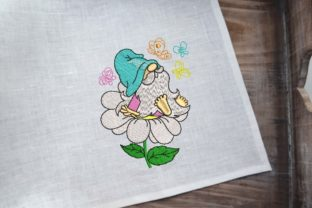 Print on Demand: Spring Gnome Spring Embroidery Design By ArtEMByNatali 4