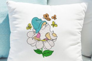 Print on Demand: Spring Gnome Spring Embroidery Design By ArtEMByNatali 5