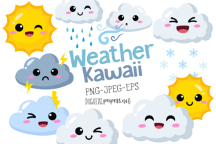 Print on Demand: Weather Kawaii Graphic Illustrations By DigitalPapers