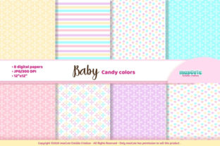 Print on Demand: Baby Candy Colors Digital Paper Graphic Backgrounds By mascute.arte