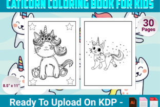 Print on Demand: Caticorn Coloring Book for Kids Graphic Coloring Pages & Books Kids By Simran Store