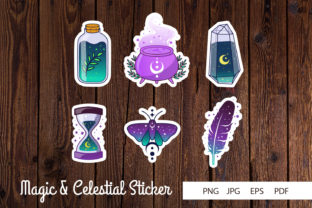 Print on Demand: Magic and Celestial Sticker Graphic Illustrations By dadan_pm