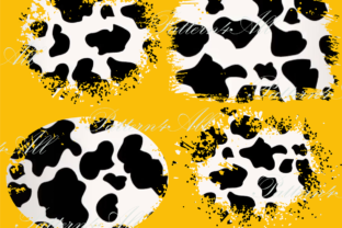Print on Demand: PNG Cow Texture Patches, Splash Sublimat Graphic Illustrations By MockupsCreations