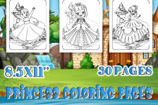 Print on Demand: Princess Coloring Pages for Kids Graphic Coloring Pages & Books Kids By Tixxor-Global