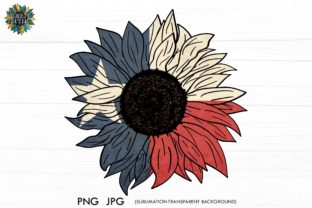 Texas Flag Sunflower PNG, Waterslide PNG Graphic Crafts By roddy style