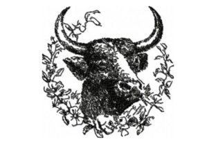 Vintage Bull Animals Embroidery Design By Beautiful Embroidery