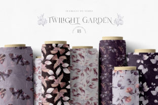 Print on Demand: Whimsical Twilight Seamless Patterns Graphic Patterns By Busy May Studio