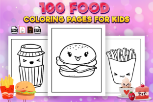 Print on Demand: 100 Food Coloring Pages for Kids - Kdp Graphic Coloring Pages & Books Kids By Kristy Coloring
