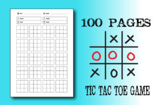 100 Pages - Tic Tac Toe - Interior 8.5x1 Graphic KDP Interiors By Ador Hasan
