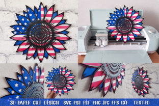 3D Sunflower 4of July Bundle Graphic 3D SVG By goodfox86 9