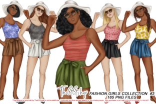 Print on Demand: BEACH GIRLS CLIPART COLLECTION Graphic Illustrations By TheGGShop