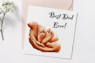 Dads Hand Clipart, Baby Feet - 2