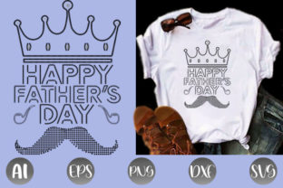 Print on Demand: Father's Day Rhinestone T-shirt Design Graphic Print Templates By creative_design915