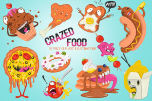 Funny Crazed Foods Illustrations Graphic Illustrations By Dapper Dudell