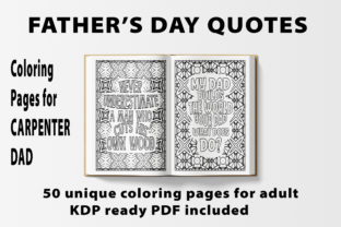 Print on Demand: Inspirational Father's Day Coloring Book Graphic Coloring Pages & Books By bengalcanvas