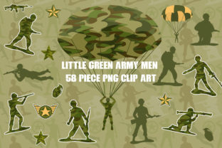 Little Green Army Men Clip Art Graphic Illustrations By Dapper Dudell