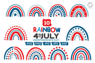 Print on Demand: Rainbow 4th of JULY Graphic Bunble Graphic Crafts By nesdigiart