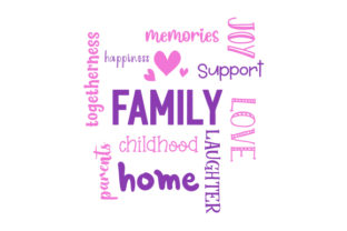 Family Word Art Family Craft Cut File By Creative Fabrica Crafts