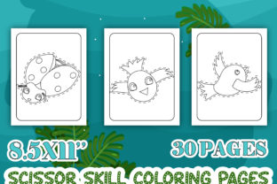 Print on Demand: Animals Scissor Skill Activity Book Graphic Coloring Pages & Books Kids By Tixxor-Global