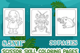Print on Demand: Animals Scissor Skill Activity Pages Graphic Coloring Pages & Books Kids By Tixxor-Global
